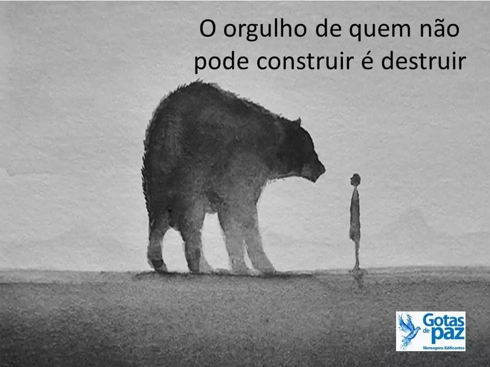O orgulho de quem não pode construir é destruir