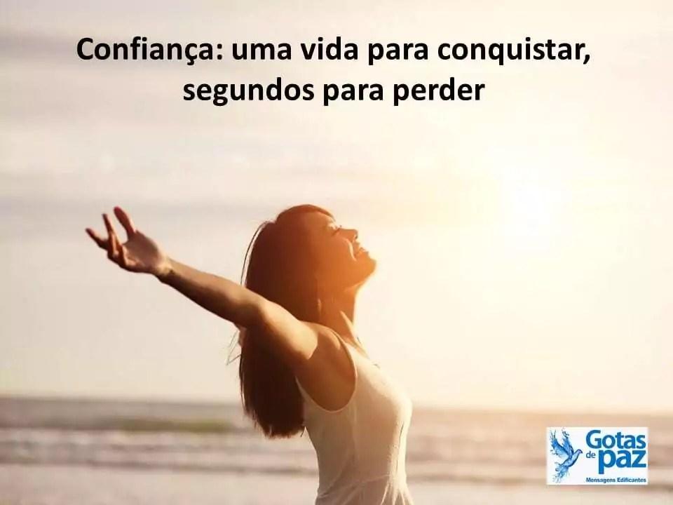 Confiança: uma vida para conquistar, segundos para perder