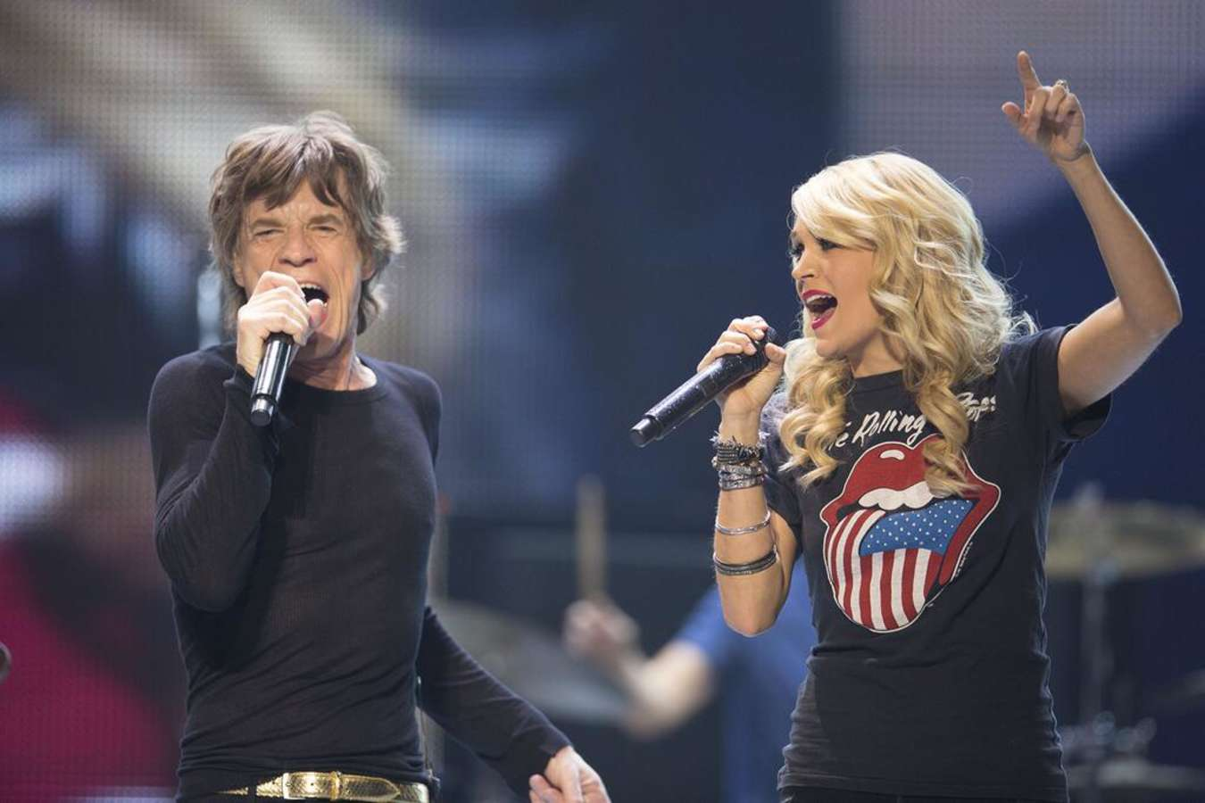 Carrie Underwood And The Rolling Stones On Stage In