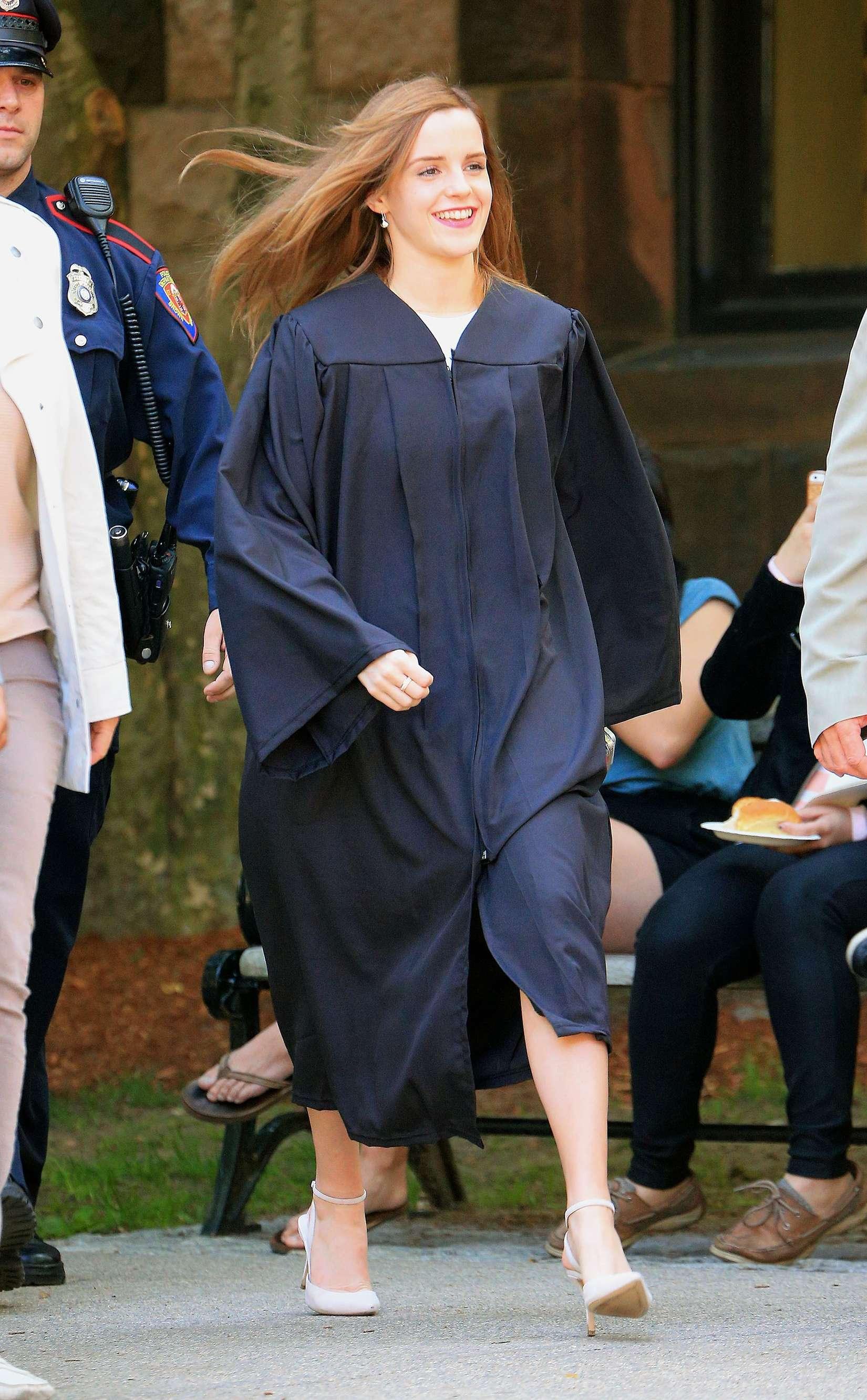 Emma Watson Graduates From Brown University Gotceleb