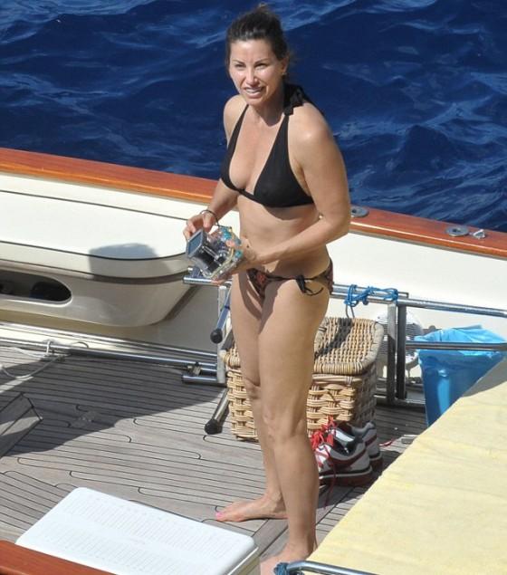 Gina Gershon Bikini On A Boat In Italy 03 GotCeleb