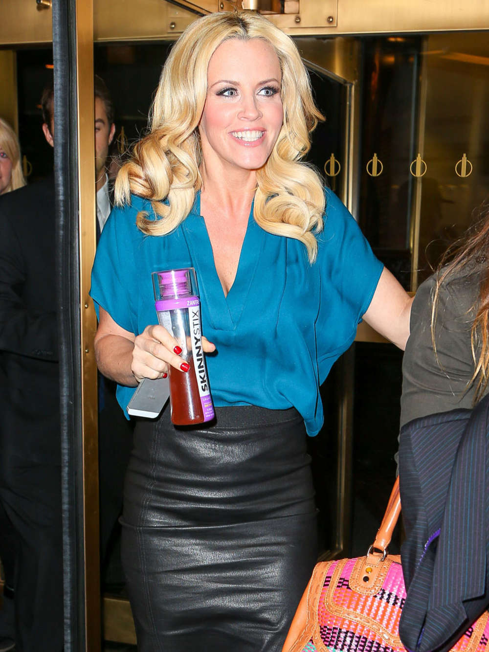 Jenny McCarthy In Leather Skirt 01 GotCeleb