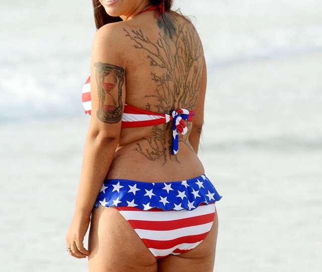 Sydney Leathers Bikini Photos  In Miami