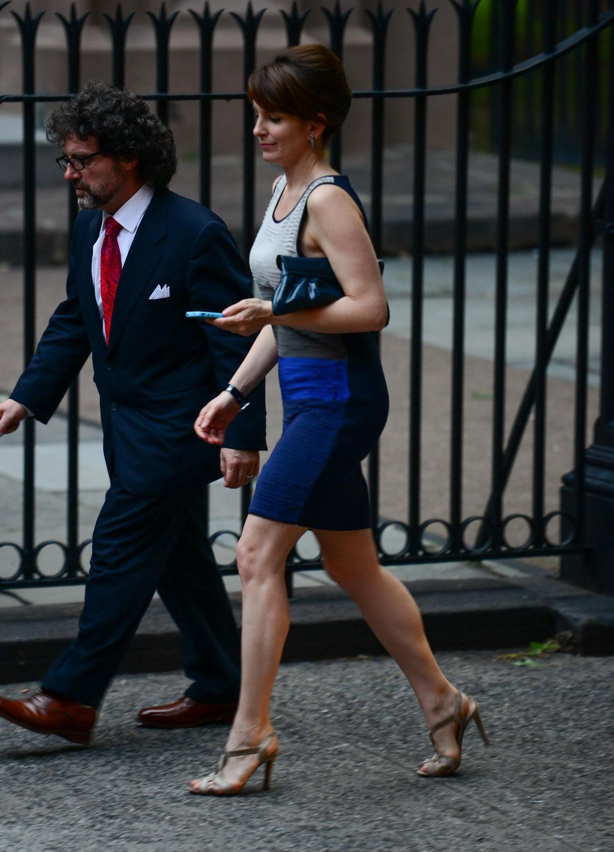 Tina Fey At Alec Baldwin And Hilaria Thomas Wedding In Ny