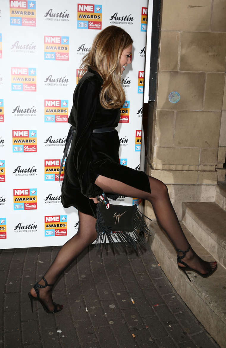Abbey Clancy NME Awards 2015 At Brixton Academy In