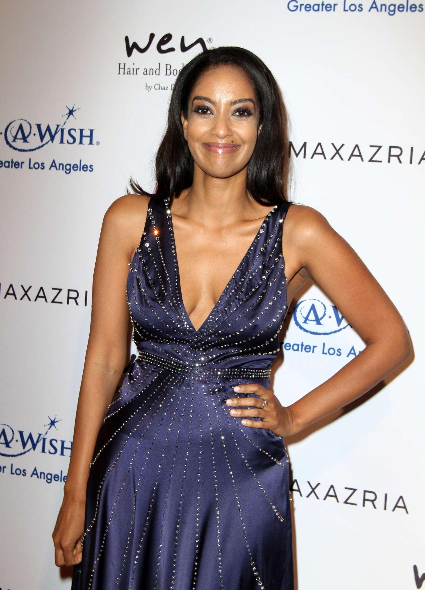 Azie Tesfai BCBG Make A Wish Fashion Show In Los Angeles GotCeleb