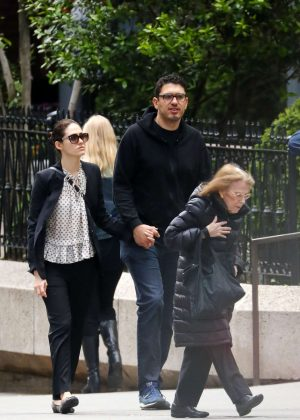 Emmy Rossum and fiance Sam Esmail out in New York City