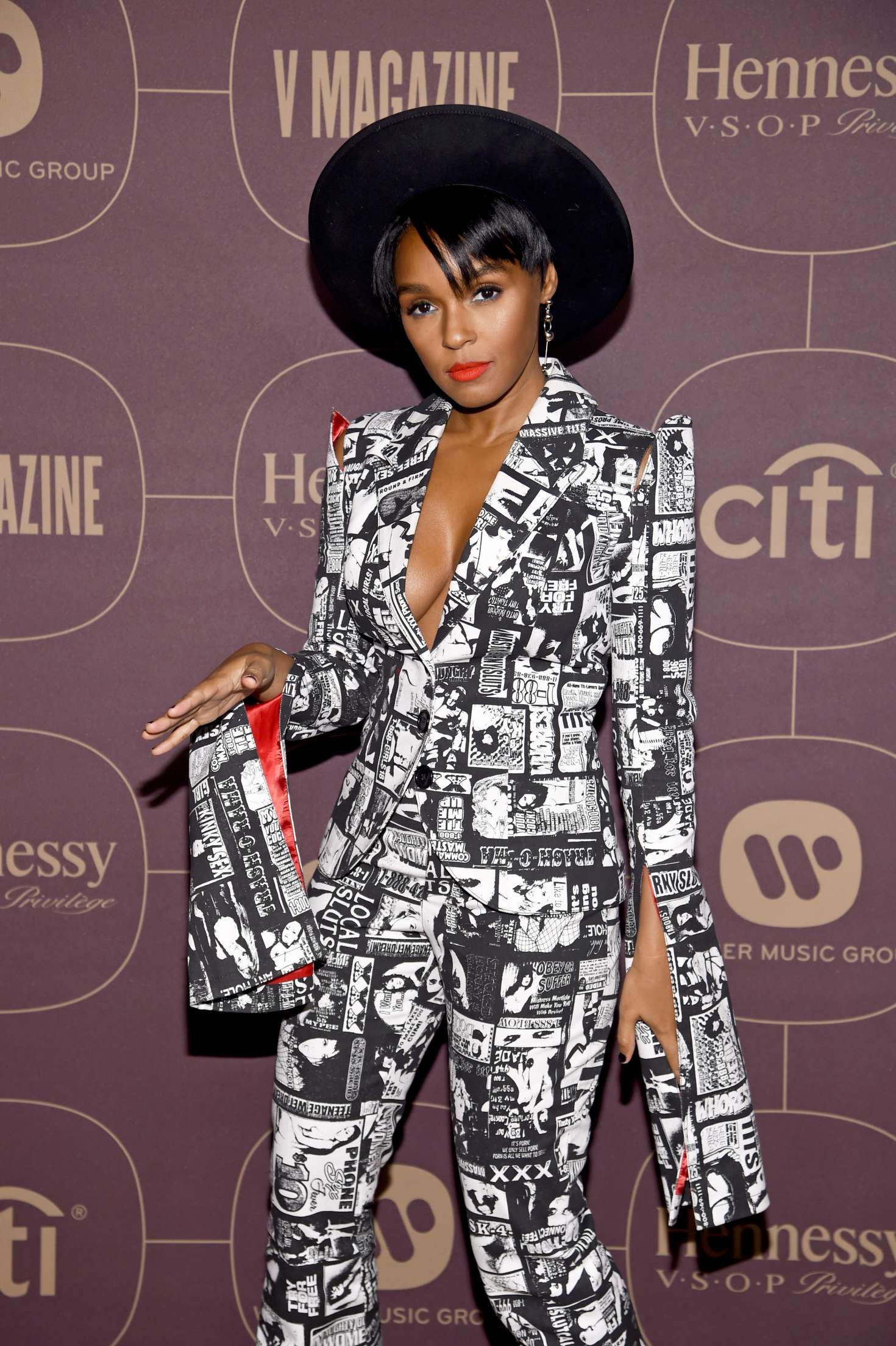 Janelle Monae Warner Music PreGrammy Party In NY GotCeleb