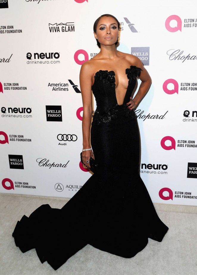 Kat Graham: 2015 Elton John AIDS Foundation Academy Awards Party -01