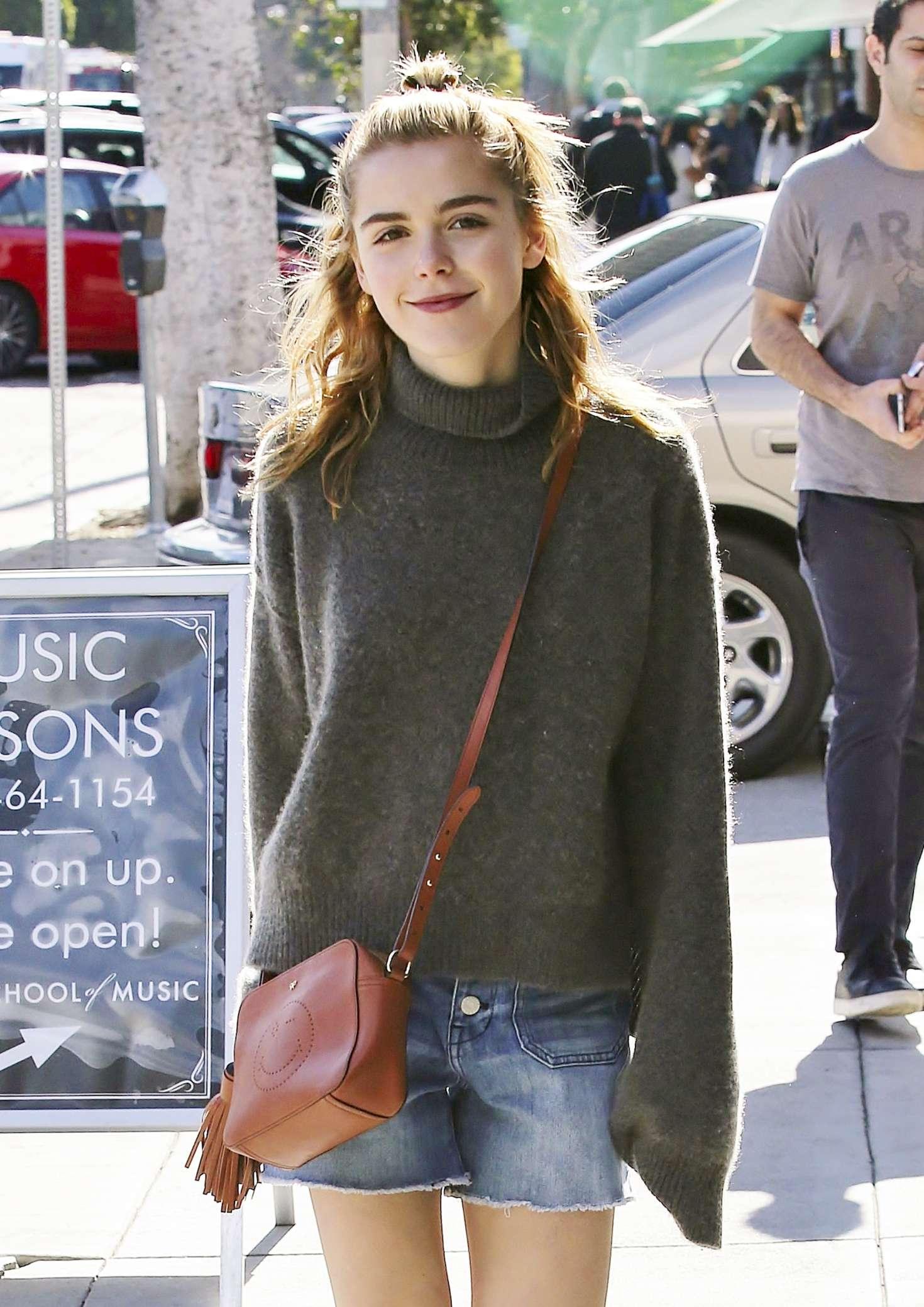Kiernan Shipka In Jeans Shorts Out In Los Angeles GotCeleb