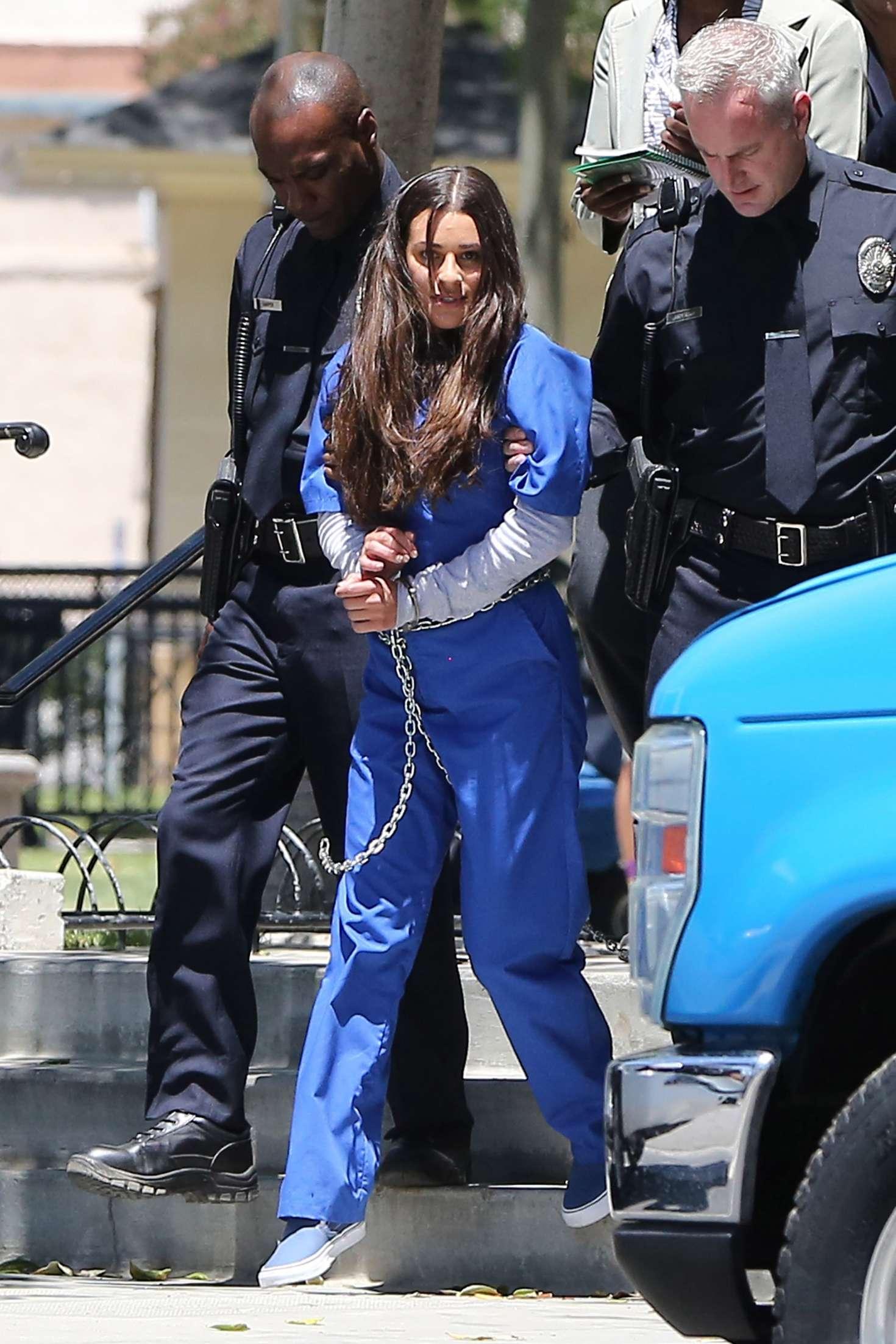 Lea Michele Filming Scream Queens In Fillmore GotCeleb
