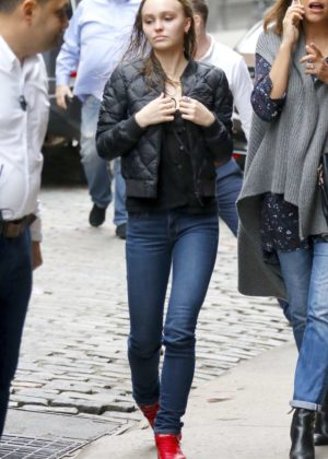 Lily Rose Depp - Leaves her hotel in NYC