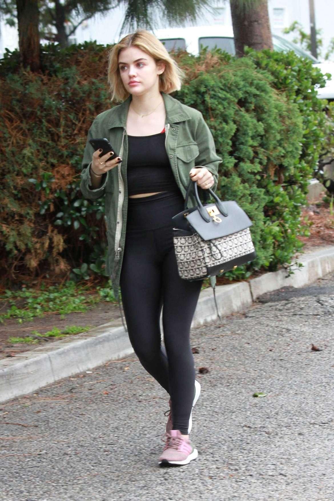 Lucy Hale out for breakfast in LA