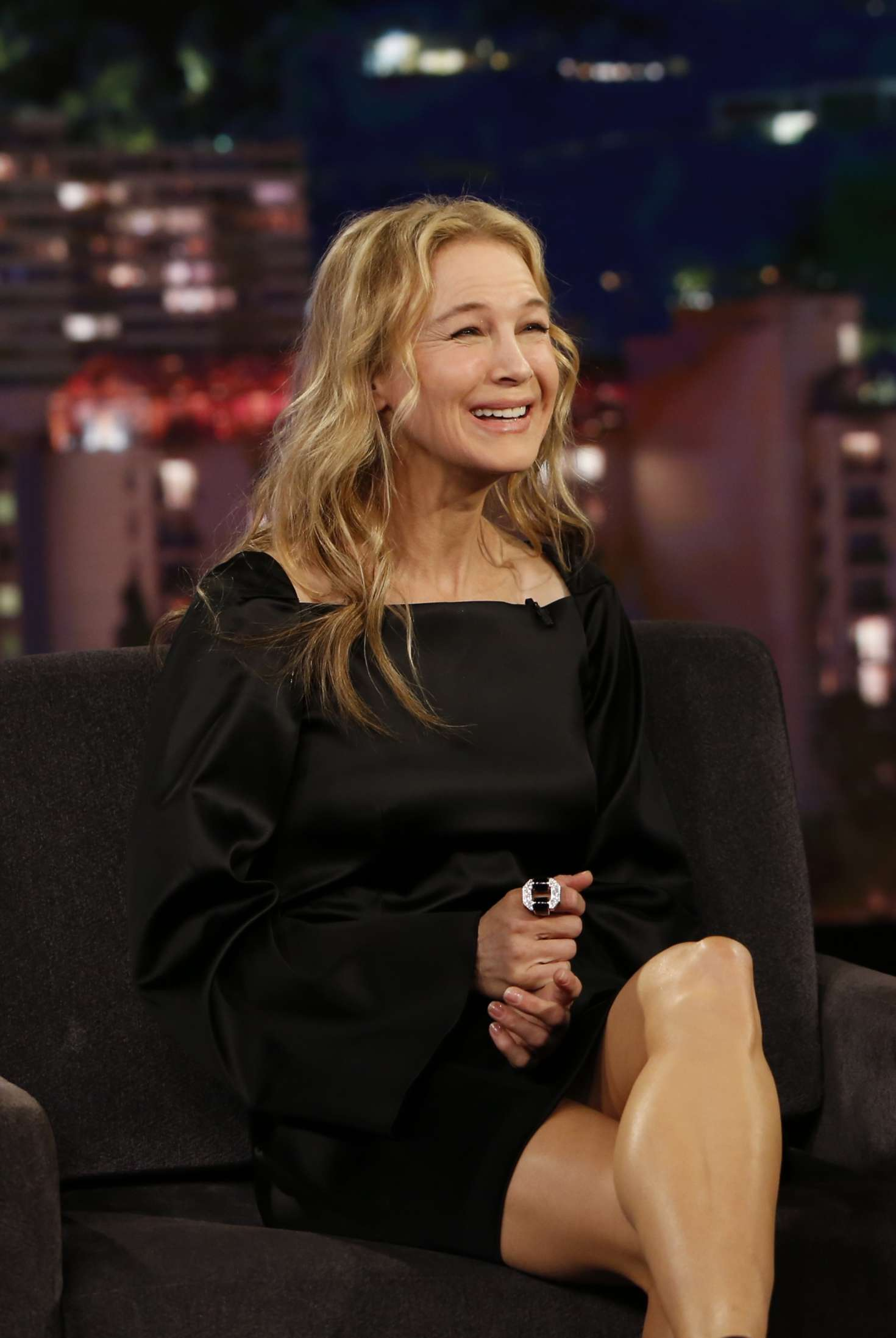 Renee Zellweger At Jimmy Kimmel Live In Los Angeles