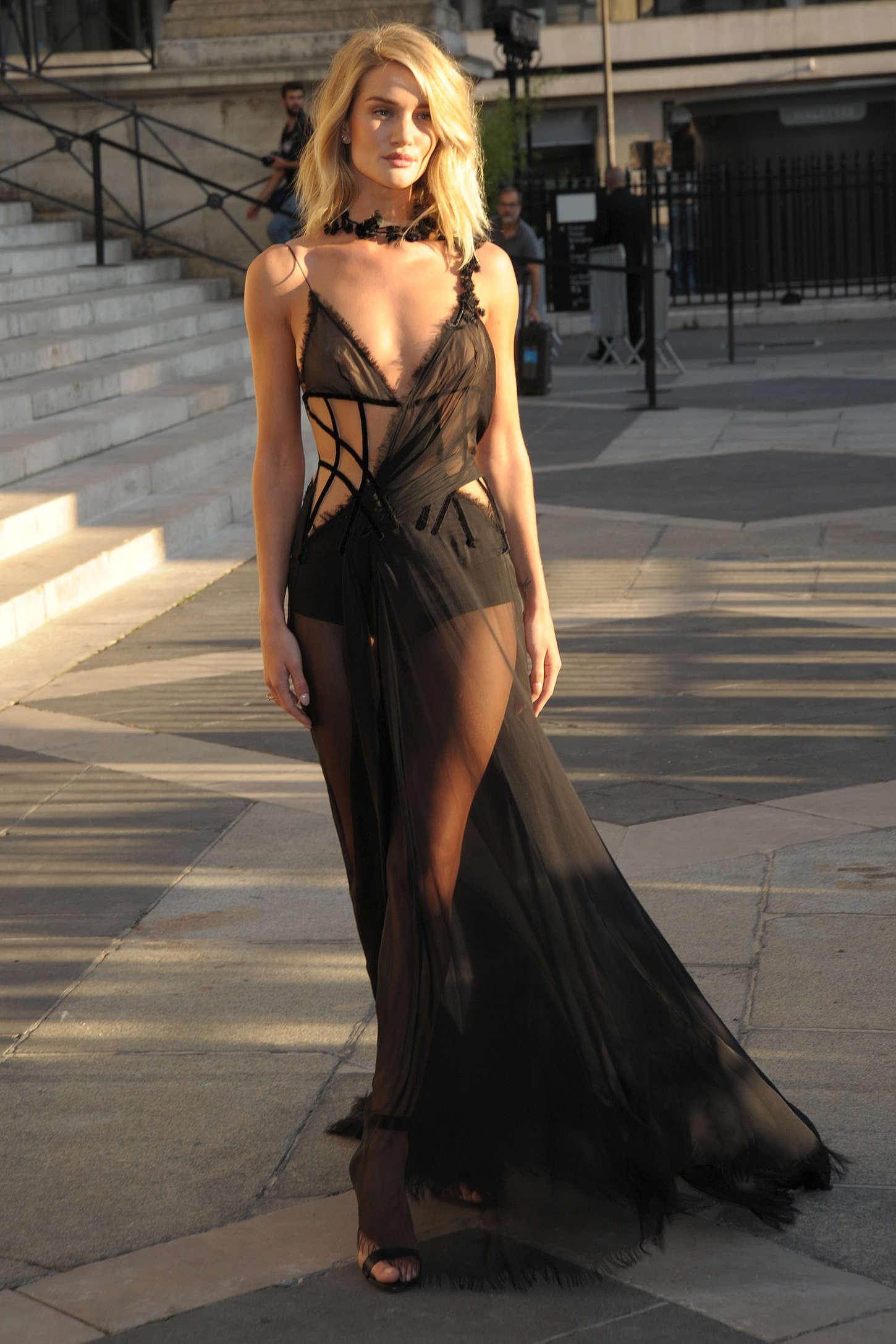 Rosie Huntington Whiteley Versace Fashion Show 05 GotCeleb