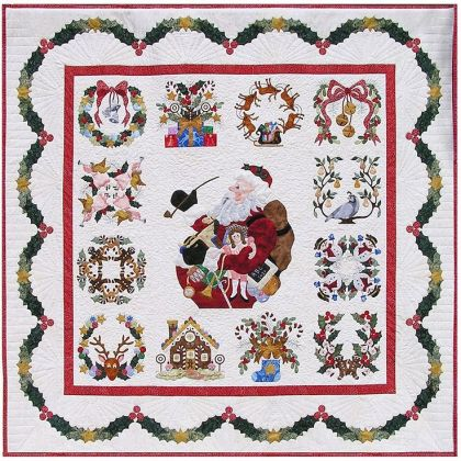 Cute Christmas Block of the Month found on Pinterest