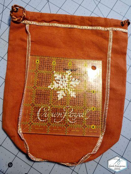 Crown Royal Bag orange