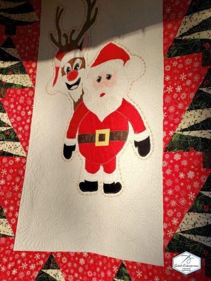Santa Banner Custom Quilting 2