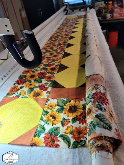 Debbie's sunflowers long arm