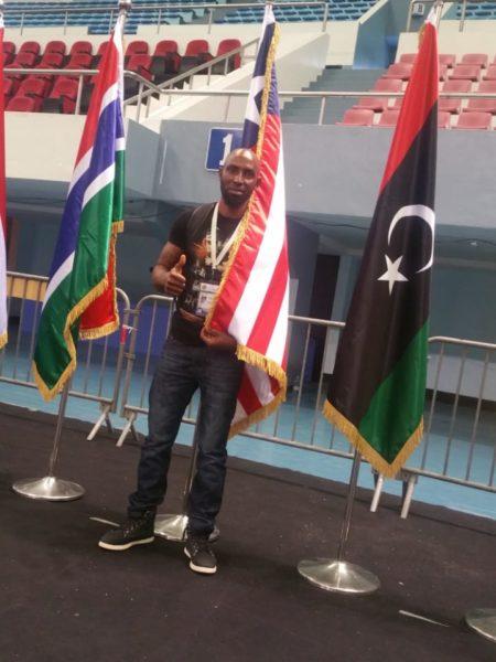 Siaffa's Coach, Todd Nagbe at the 2018 African Championship.