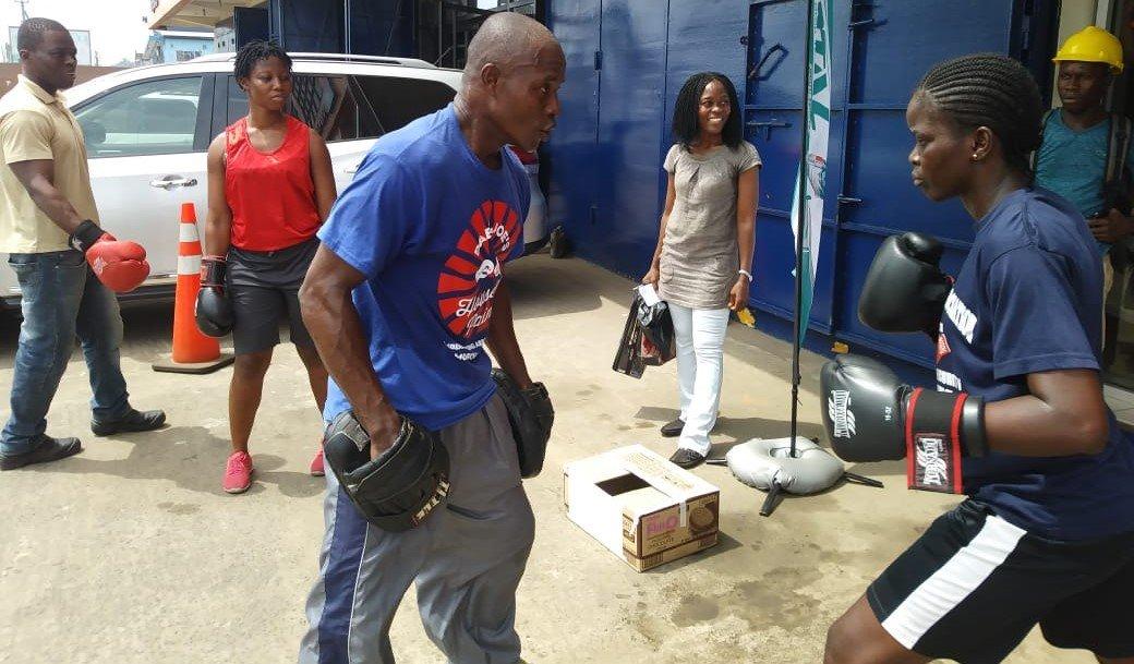 Outside Liberian Boxing Gym