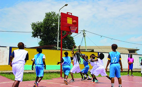 Liberian Girls Basketball PEACE program