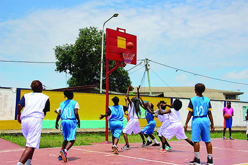 Liberian Girls Basketball PEACE program