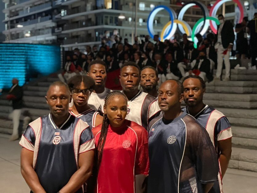Team Liberia at Tokyo 2020 Opening Ceremony