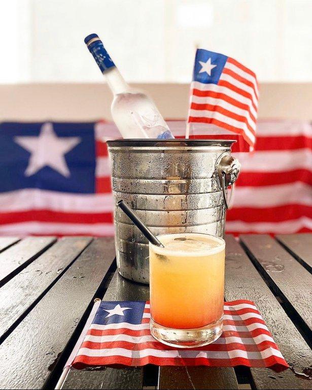 LIB Lion cocktail. 2020 Liberia Olympic Team official drink.