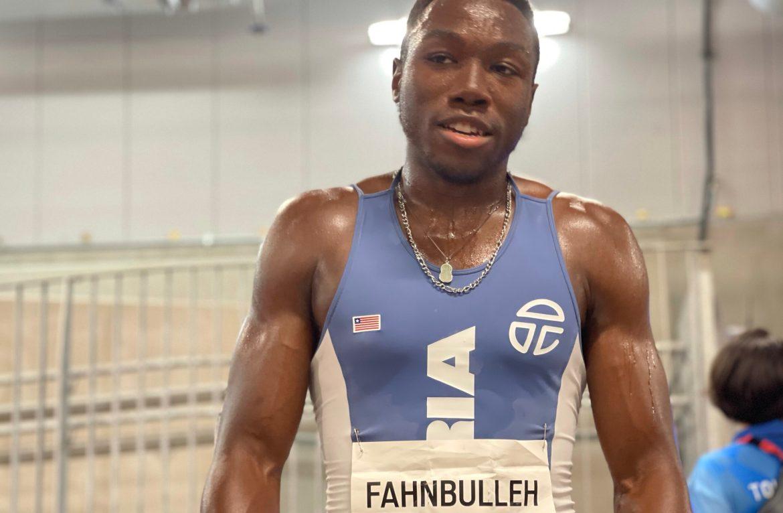 Joseph Fahnbulleh post-race