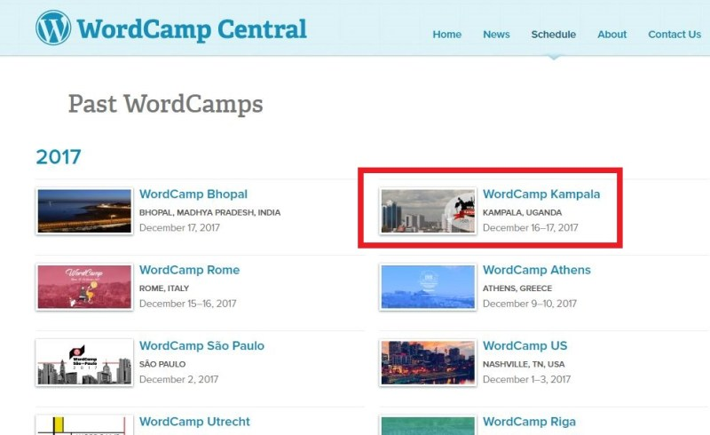 past events - WordCamp Central