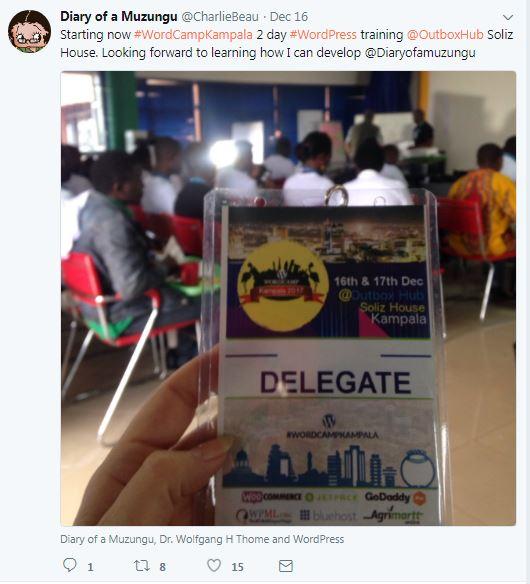 WordCamp Kampala being of help