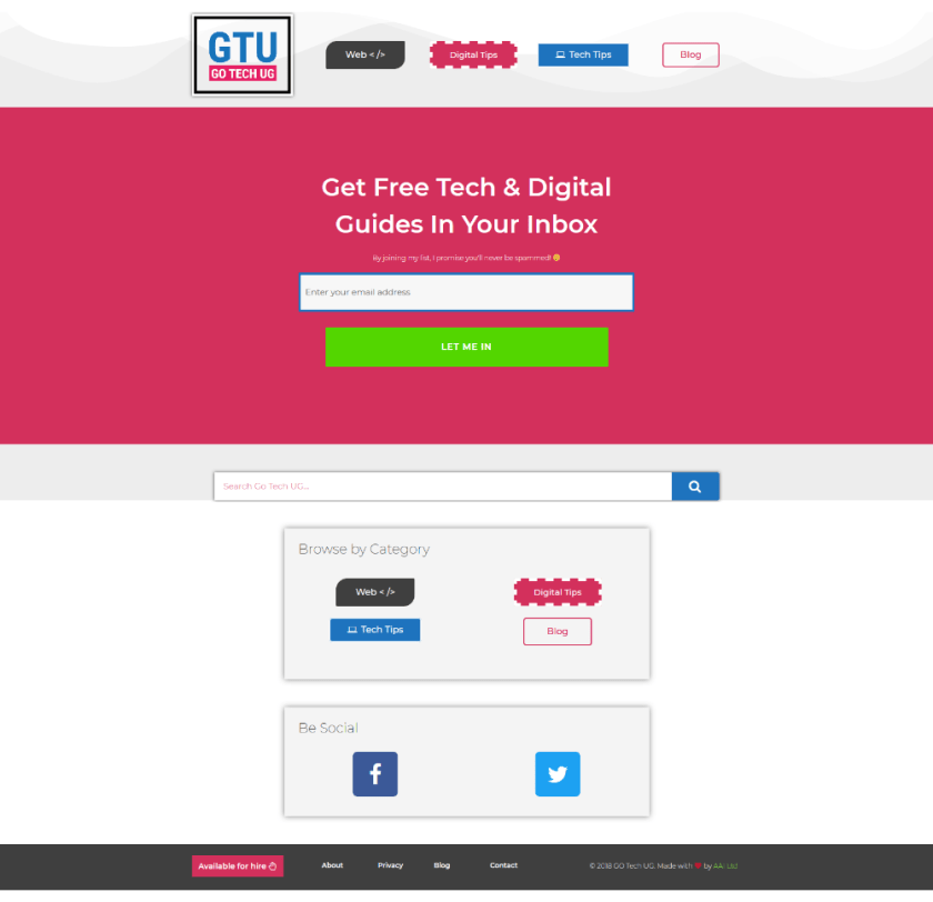 GO Tech UG Redesign