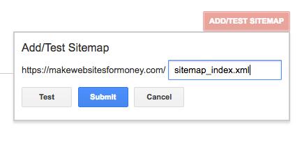 GSC adding sitemap