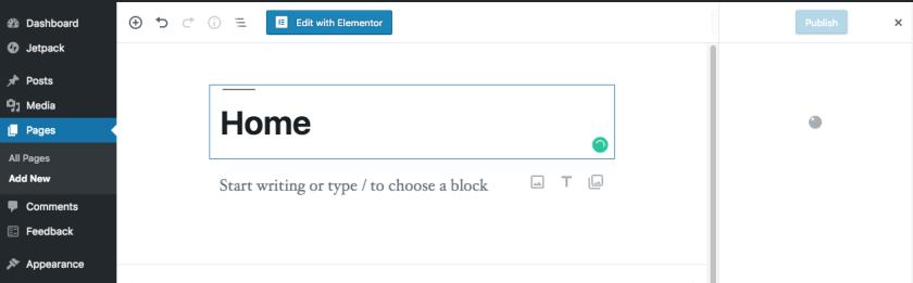 Creating Homepage in WordPress