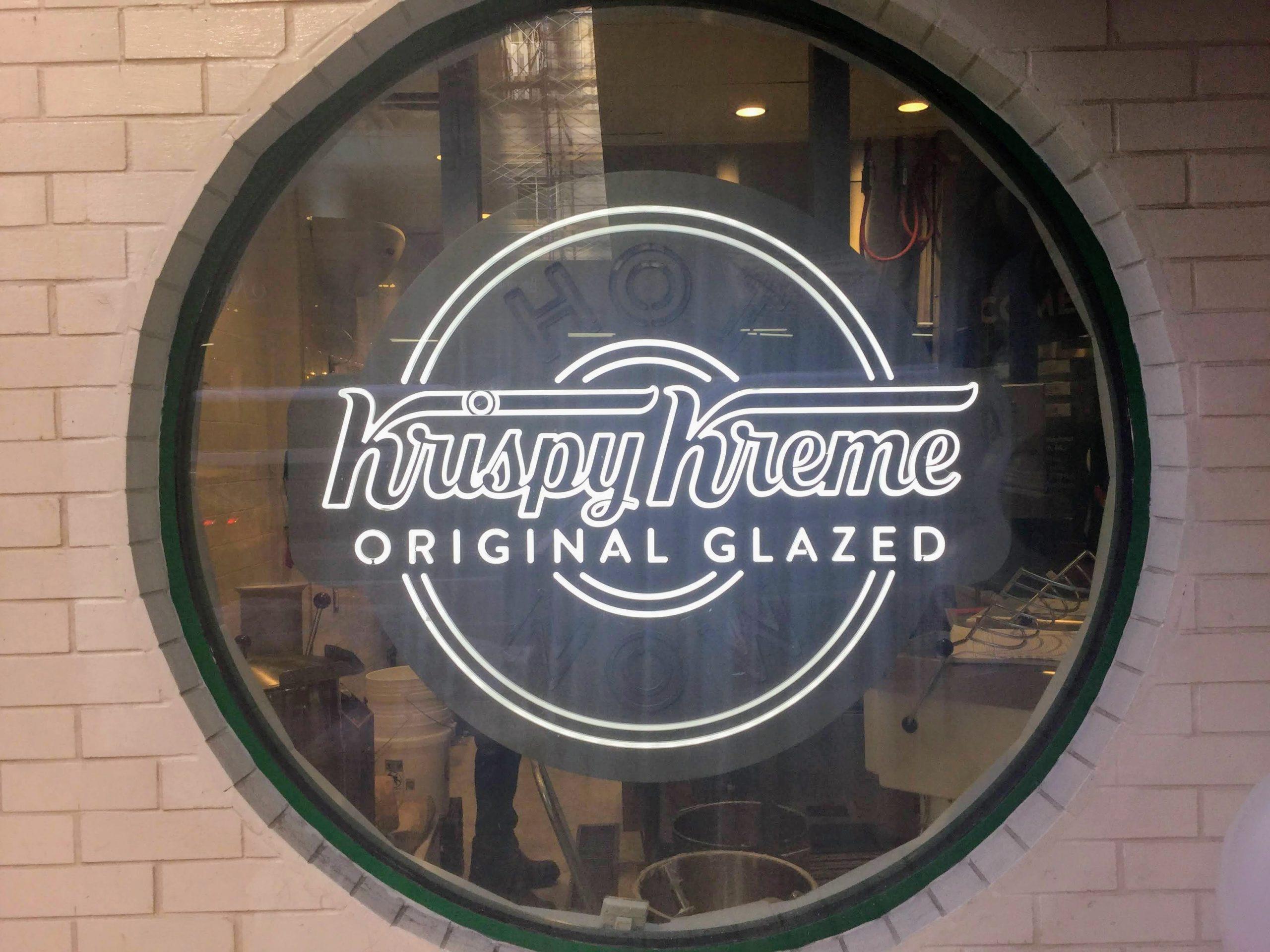 Krispy Kreme hot sign