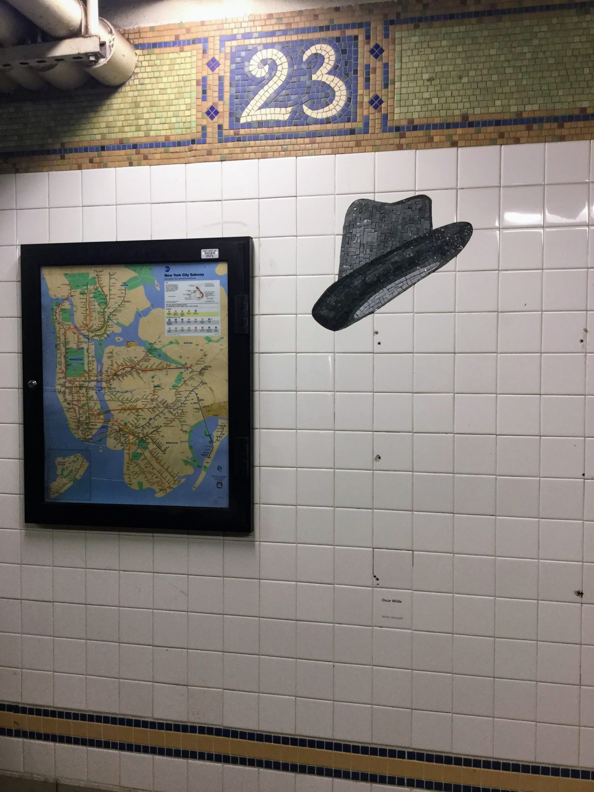Subway hat art