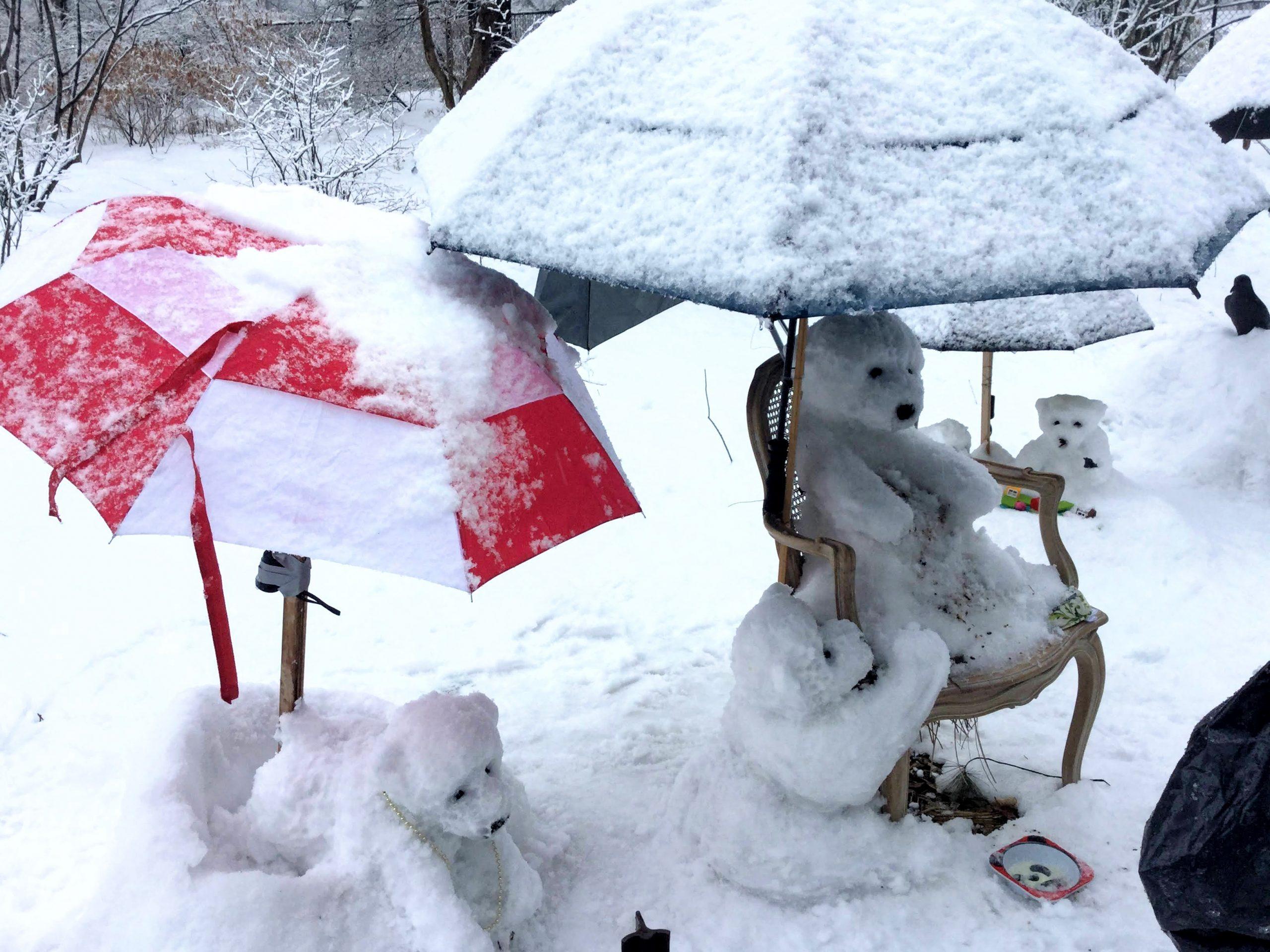 Snowbanksy by Heidi Hatry