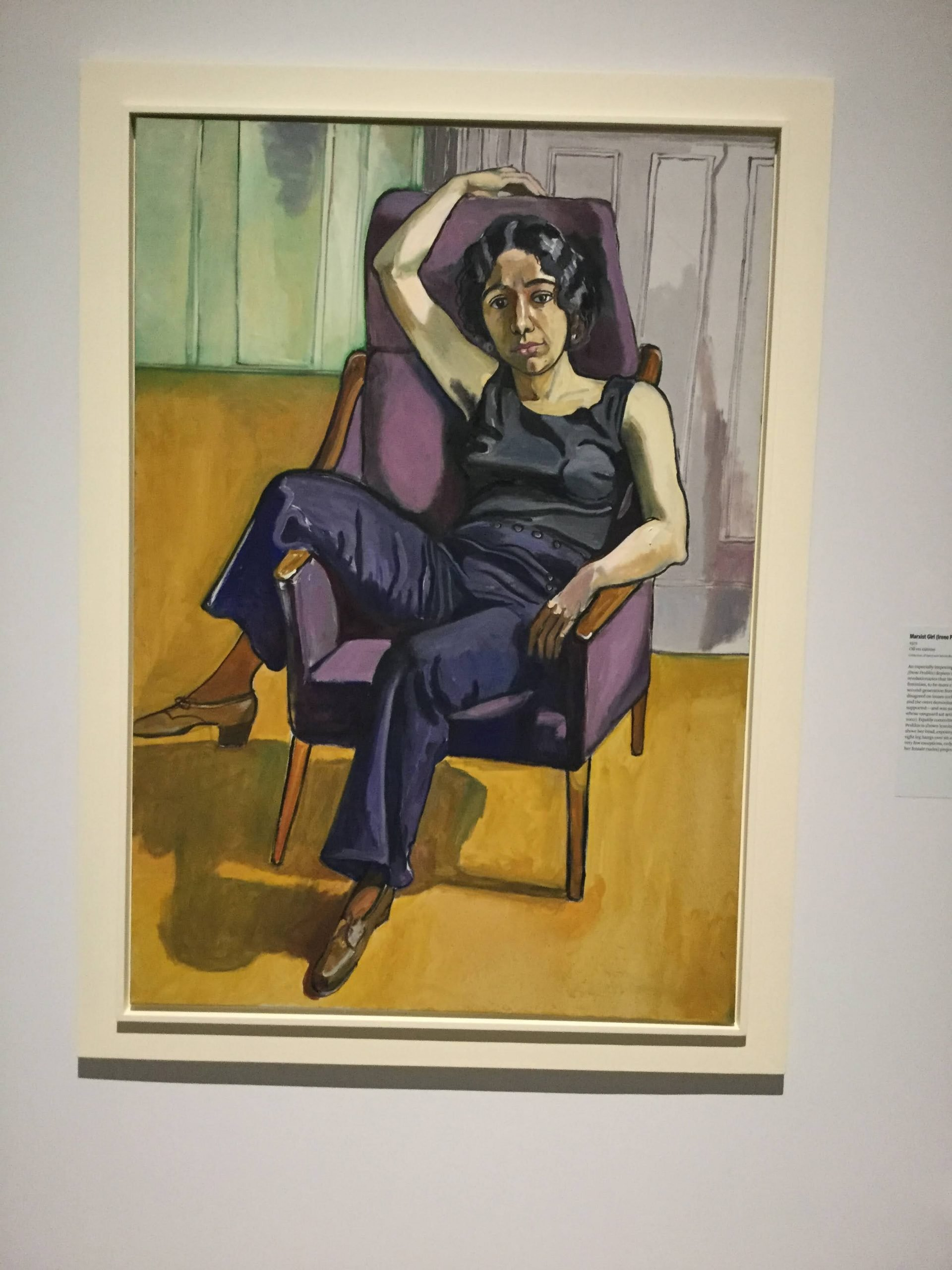 """""""Marxist Girl (Irene Peslikis)"""" by Alice Neel"""