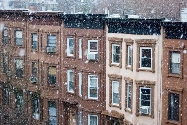 Brooklyn snow by Adrian Kinloch
