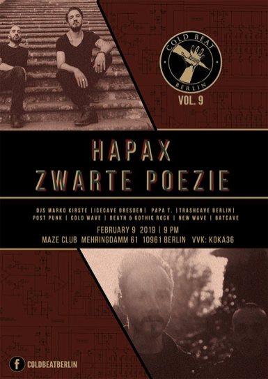 Cold Beat Berlin Hapax & Zwarte Poezie
