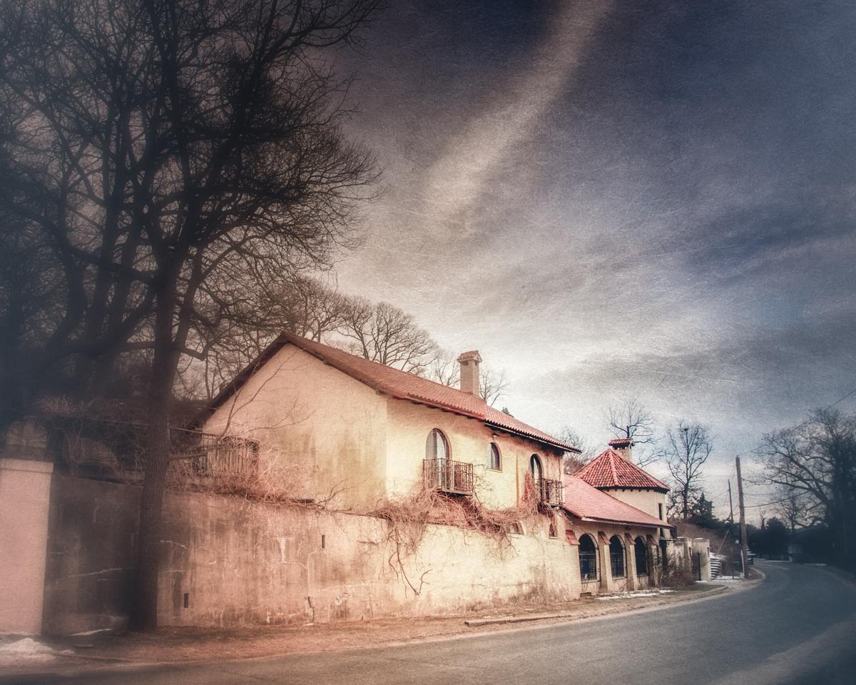 The gatehouse of Ferguson's Castle on Long Island's Gold Coast