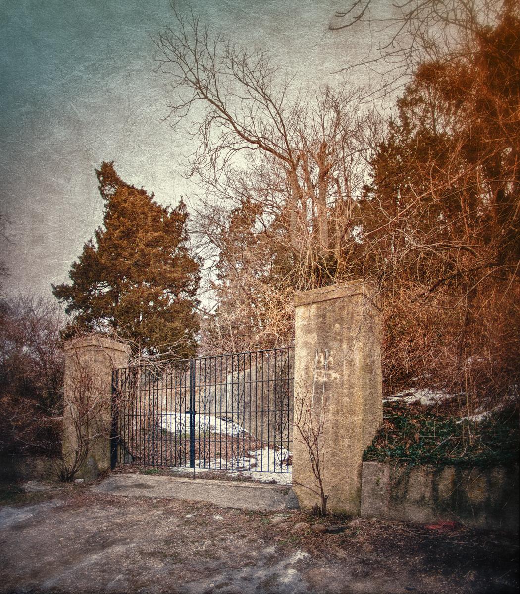 The gates to Ferguson's Castle on Long Island's Gold Coast