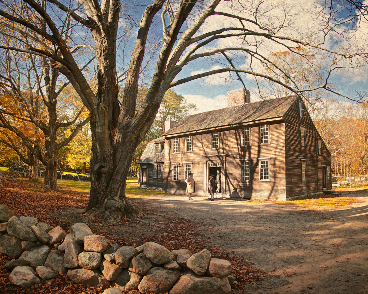 Hartwell Tavern c. 1732-1733. Battle Road, Minute Man National Park, Lexington and Concord, Middlesex County, Massachusetts