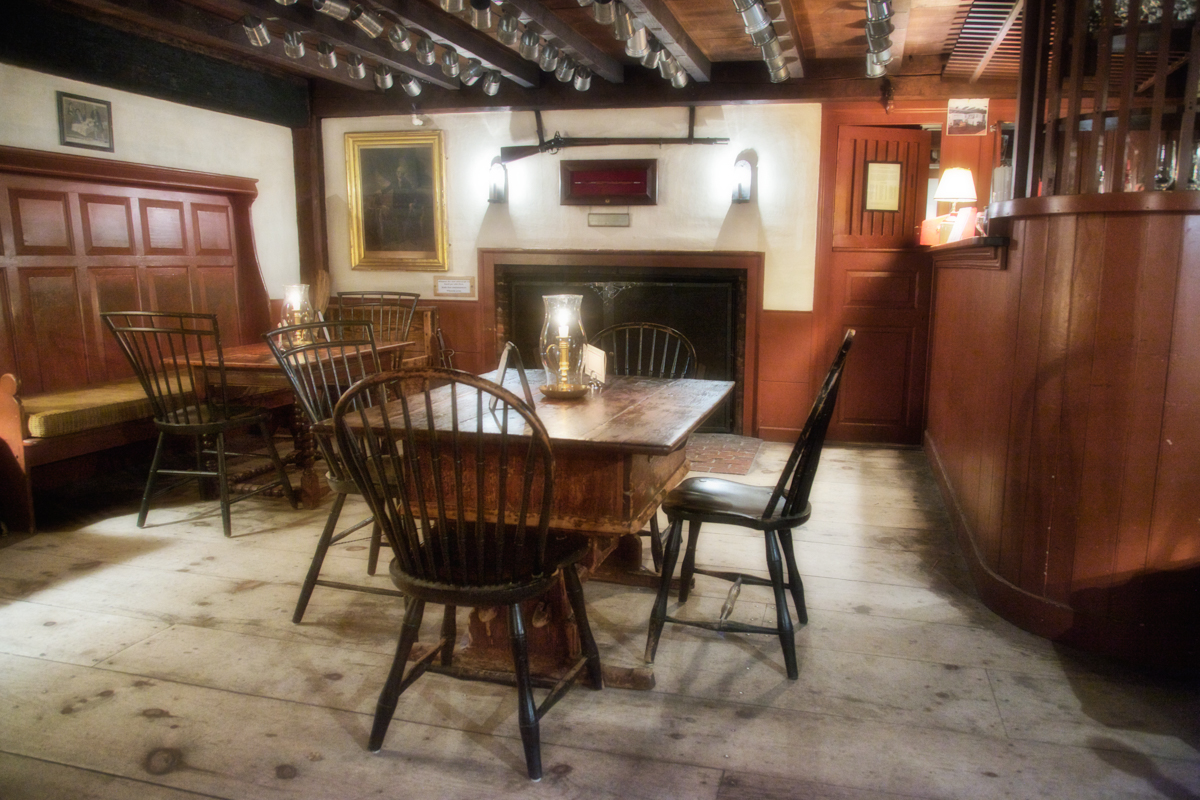 The barroom in Longfellow's Wayside Inn