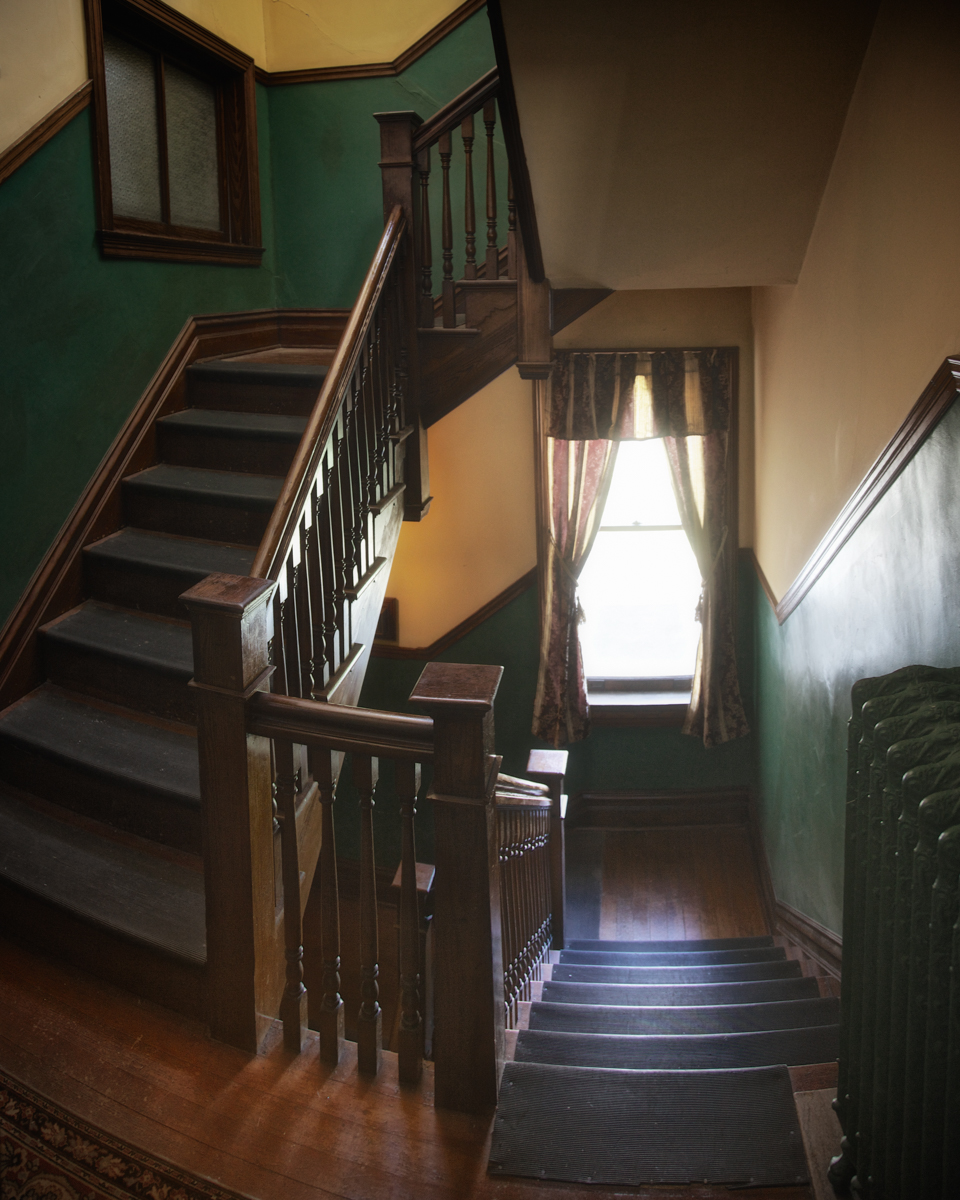 The Servant's Staircase, believed to still be taken by Mr. Cruikshank in death