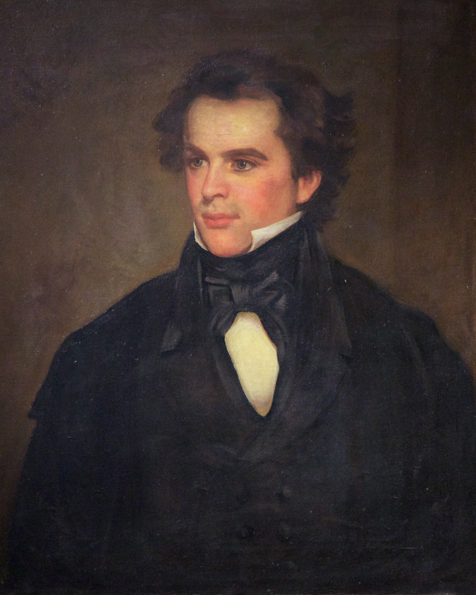 Portrait of Nathaniel Hawthorne at The House of Seven Gables,Turner-Ingersoll Mansion, Salem