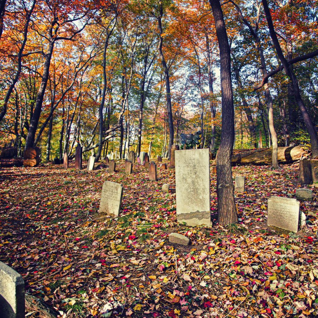 The purported grave of Annette Williamson, the ghost of the Country House Restaurant in Stony Brook, NY