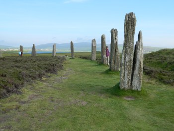 Ring of Brodgar on a soul journey in Scotland