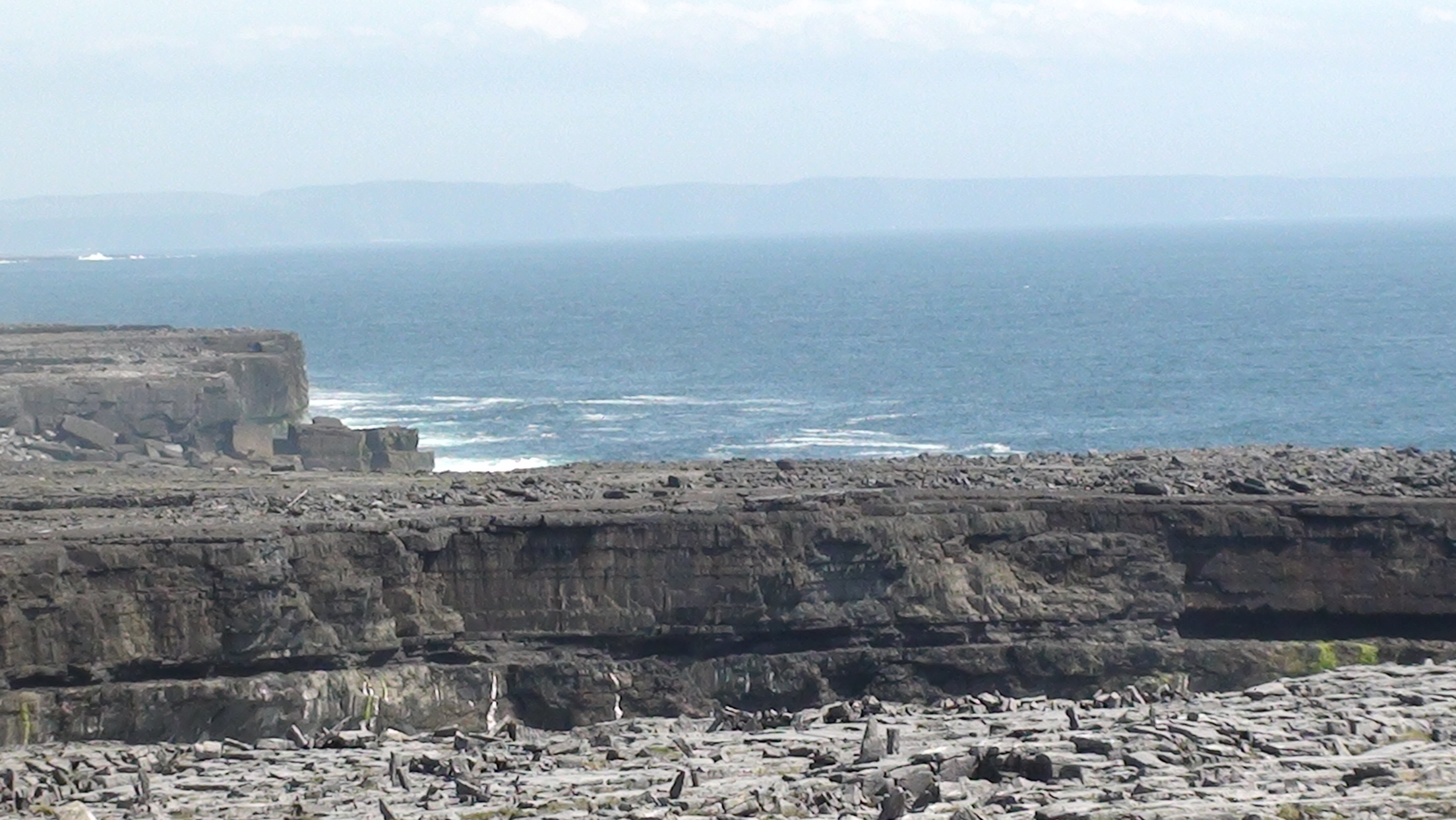 View from the cliffs of Inishmore